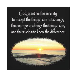 INSPIRING SUNRISE SERENITY PRAYER DESIGN CANVAS PRINT
