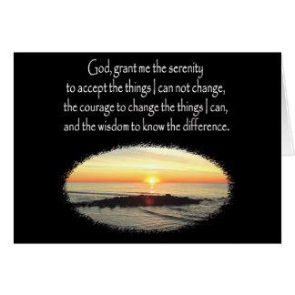 INSPIRING SUNRISE SERENITY PRAYER DESIGN CARD