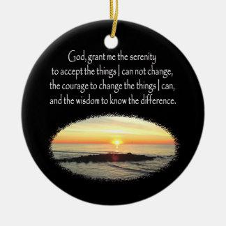 INSPIRING SUNRISE SERENITY PRAYER DESIGN CERAMIC ORNAMENT