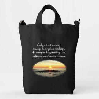 INSPIRING SUNRISE SERENITY PRAYER DESIGN DUCK BAG