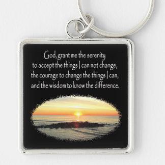 INSPIRING SUNRISE SERENITY PRAYER DESIGN KEYCHAIN