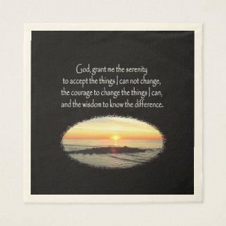 INSPIRING SUNRISE SERENITY PRAYER DESIGN NAPKIN