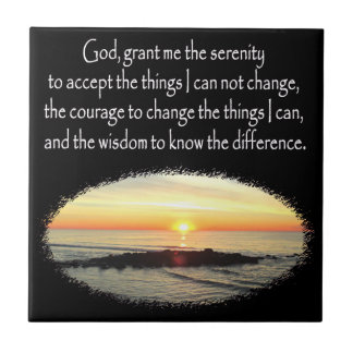 INSPIRING SUNRISE SERENITY PRAYER DESIGN TILE