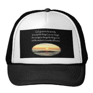 INSPIRING SUNRISE SERENITY PRAYER DESIGN TRUCKER HAT