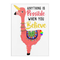 Inspiring Unifllama: Unicorn-Flamingo-llama Hybrid Acrylic Print