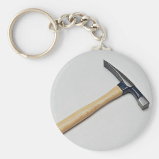 Inspiring Wooden hammer Basic Round Button Keychain