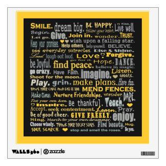 inspiring words art wall sticker