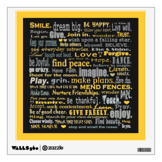 inspiring words art wall graphics