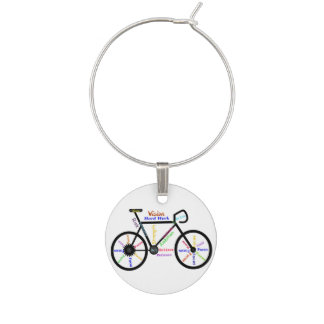 Inspiring Words Bike Bicycle Cycle Sport Fans Wine Charm