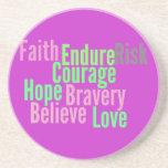 Inspiring Words Coaster