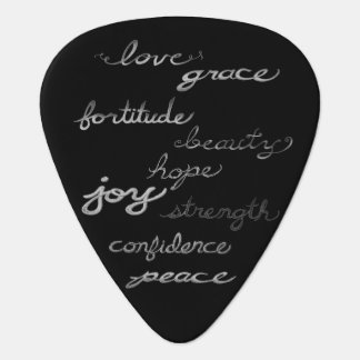 Inspiring Words Guitar Pick