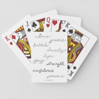 Inspiring Words Playing Cards