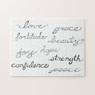 Inspiring Words Puzzle