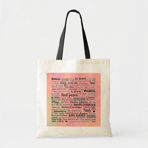 inspiring words reusable bag