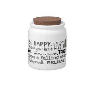 inspiring words sweets container candy dishes