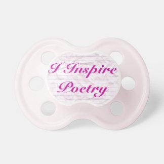 Inspiro al pacificador de la poesía (el rosa) chupetes para bebés