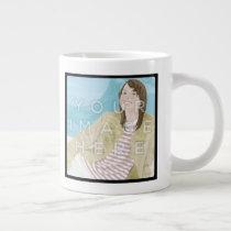 Instagram 2-Photo Personalized Custom Jumbo Mug