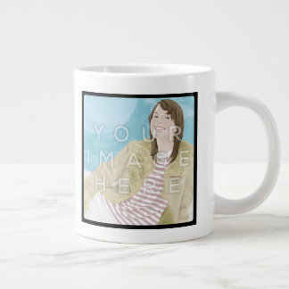 Instagram 2-Photo Personalized Custom Jumbo Mug