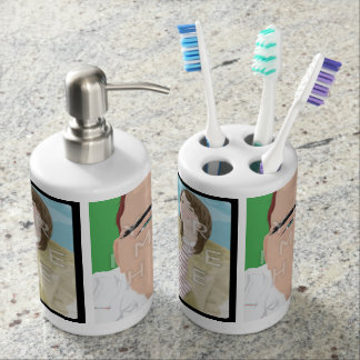 Instagram 2-Photo Toothbrush Holder Soap Dispenser