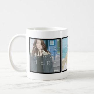 Instagram 3 Photo Customizable Classic Mug Designs