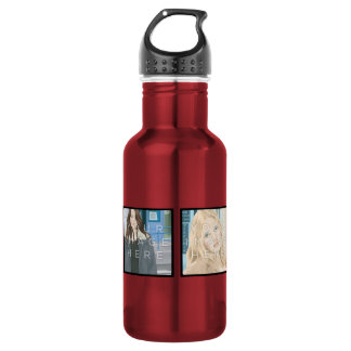 Instagram 4 Photo Aluminum Water Bottle