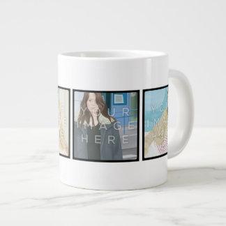 Instagram 4-Photo Personalized Custom Jumbo Mug 20 Oz Large Ceramic Coffee Mug