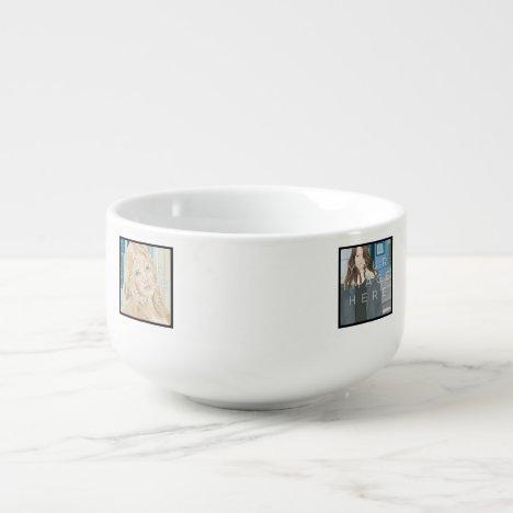Instagram 4-Photo Personalized Custom Soup Mug