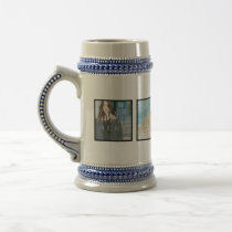 Instagram 4 Photo Personalized Custom Stein Mug