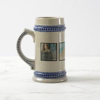 Instagram 4 Photo Personalized Custom Stein Mug