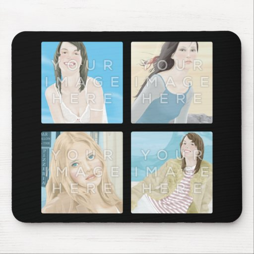 Instagram 4 Photo Personalized Mousepad Designs