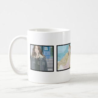 Instagram 4 Photo Personalized Mug Designs