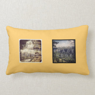 Instagram 4 Photo Personalized Throw Pillow Design