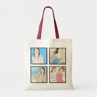 Instagram 4 Photo Personalized Tote Bag Designs