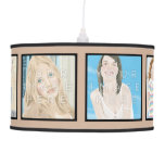 Instagram 6-Photo Beige Personalized Pendant Lamp