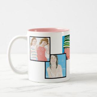 Instagram 6-Photo Customizable 2-Tone Mug Designs