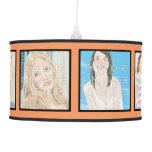Instagram 6-Photo Orange Personalized Pendant Lamp