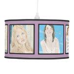 Instagram 6-Photo Violet Personalized Pendant Lamp