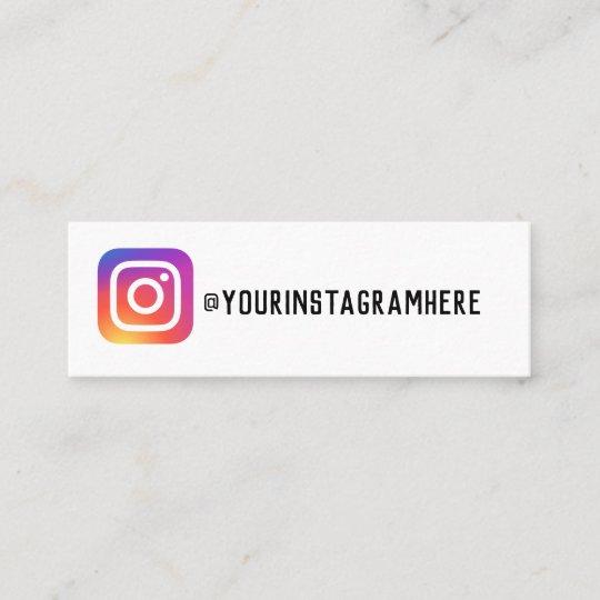 instagram business card  zazzle