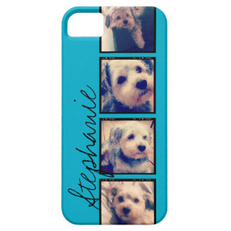 Instagram Collage - 4 photos blue background iPhone SE/5/5s Case