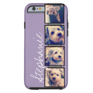 Instagram Collage - 4 photos Orchid background Tough iPhone 6 Case
