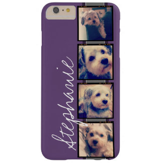 Instagram Collage - 4 photos purple background Barely There iPhone 6 Plus Case