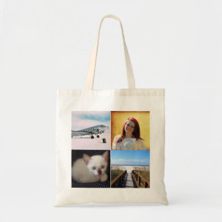 Instagram custom photo add your own photos hipster budget tote bag