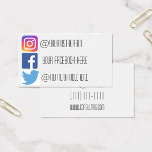 Facebook business cards templates zazzle instagram facebook twitter business card fbccfo Images