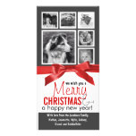 Instagram Family Photos Red Ribbon Christmas Photo Card Template