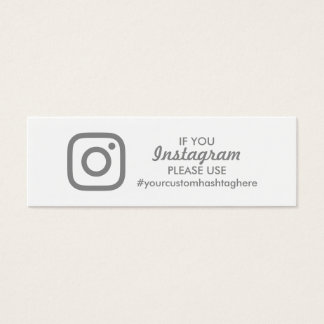 instagram hashtag mini business card