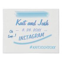 Instagram Hashtag Sign Minimalist  Ambiance Blue