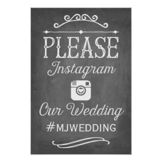 Instagram Hashtag Sign | Wedding Decor Poster