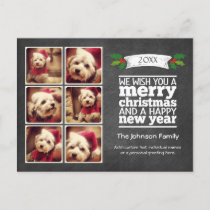 Instagram Holiday Chalkboard Photo Card