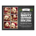 Instagram Holiday Chalkboard Photo Card Postcard