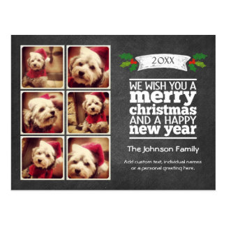 Instagram Holiday Chalkboard Photo Card Post Card